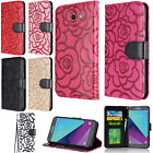 For Samsung Galaxy J7 PERX J727 ROSE Leather Wallet Case Pouch Flip Phone Cover