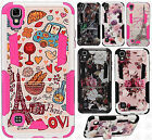 For LG X Style HYBRID KICK STAND Rubber Case Phone Cover Accessory
