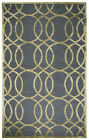 Rizzy Rugs Gray Circles Lines Swirls Contemporary Area Rug Geometric ME078A