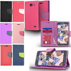For Samsung Galaxy J7 PERX J7V J727 Leather Wallet Case Pouch Flip Phone Cover