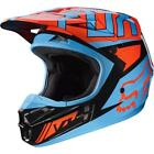 Fox 2017 Herren Motocross / MTB Helm - V1 FALCON - schwarz-orange Motocross Endu