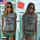 New Women Girls Cotton Blouse Short Sleeve Shirt Summer Casual Loose Blouse Tops