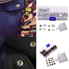 50 Pieces Buttons Jeans Button Snap Fastener Press Studs and 9 Pieces Leat