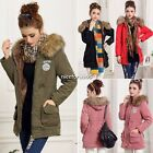Lady Women Thicken Warm Winter Coat Hood Overcoat Long Jacket Outwear N4U8