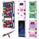 For Samsung Galaxy S8 / S8 PLUS IMPACT TUFF Hybrid KICKSTAND Case + Screen Guard