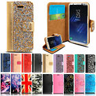 For Samsung Galaxy S8/S8 Plus Magnetic Leather Flip Case Card Holder Stand Cover