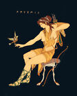 The Woodland Virgin goddess Artemis (classic art print of the Greek Mythology)