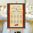 Personalised Wedding Table Seating Plan Names Numbers N159 Large A1 A2 A3 Print