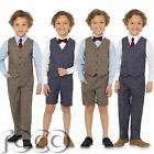 Boys Waistcoat Suit, Boys Check Suits, Boys Suits, Boys Short Suit, Page Boy