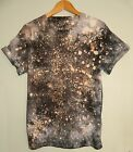 Tie dye t shirt Retro 80s hipster galaxy spray acid wash festival rave tee top