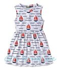 Girls NEATIE KIDDIE boutique sundress 7 8 10 & 12 NWT July 4th nautical dress