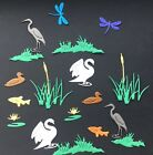 Riverbank Die Cut Set - Assorted Colours in sets of 22pcs, cardmaking, scrapbook