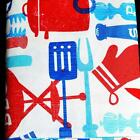 PATRIOTIC TABLECLOTH~Vinyl~Flannel Back~ALL SIZES~BBQ July 4th NEW