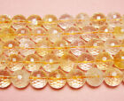 Light Citrine Faceted Gemstone Beads~Guaranteed