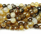 Brown Agate Faceted Gemstone Beads~Guaranteed
