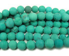 Chinese Turquoise Matte Round Gemstone Beads~Guaranteed