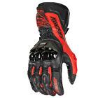 Joe Rocket Flexium TX Leather Race Gloves Red/Black Mens All Sizes