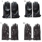 Thboxs Men's Tactical PU Leather Riding Motorcycle Driving Cycling Warm Gloves