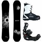 System DNR w/ LTX Rear Entry Snowboard Bindings Complete Men's Snowboard package