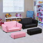 Homcom Kindersessel Kindersofa Sofa Sessel Kinder Softsofa mit Hocker 2 Farben ✔2-Teiliges Set ✔Multifunktional ✔Pflegeleicht