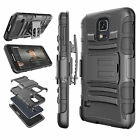 For Samsung Galaxy S5 Armor Refined Phone Cover + Belt Clip Holster Hard Case
