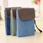 Ladies Long Strap Canvas Shoulder Bag Phone Bag Crossbody Handbag Wallet Purse