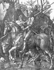 Classic German Renaissance Religious Print: Knight, Death and the Devil