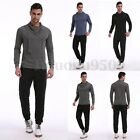 INCERUN Men's Slim Sweatshirt Casual Shirt Long Sleeve High Neck T Shirt Tops