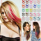 Внешний вид - Colorful Party Clip In Hair Synthetic Extensions Rainbow Highlight Cosplay