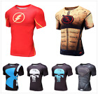 Men Marvel Superhero Compression Tee T-Shirts Sport Cycling Short Sleeve Jersey
