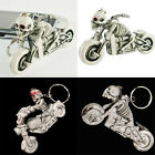 "Creative from ""Ghost Rider"" Punk Skull Motorcycle Key Ring Key Fob Keychain Gift"