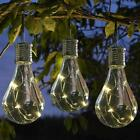 Solar Rotatable LED Bulb Outdoor Waterproof Garden Camping Hanging Light Lamp
