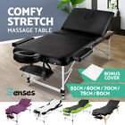 Portable Aluminium Wooden Massage Table 3 Fold Bed Therapy Waxing 60/70/75/80