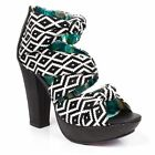 Irregular Choice Shoe-ting Stars (d) Black Sandals High Heel Shoes