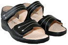 LADIES BLACK AND PEWTER CUSHIONWALK TOUCH CLOSE SUMMER SANDALS SIZE 3-8