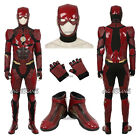 Justice League Flash Costume Cosplay Costume Jumpsuit  Accessories Hat shoes