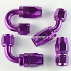 AN8 -8 8AN JIC Braided Hose Fitting Purple (Select Angle) Fuel Oil Water
