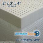 NEW 3 Inch 100% Natural Latex Mattress Pad Topper - Cal K...