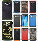 For Samsung Galaxy Sky Rubber IMPACT TRI HYBRID Case Skin Cover + Screen Guard
