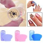Nail Art Stamper with Cap Clear Jelly Silicone Marshmallow Stamper & Scraper M1