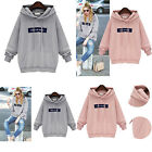 Long Sleeve Hoodie Jumper Pullover Sweatshirt Womens Tops Shirt Sports Sweats