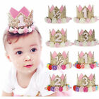 Infant Baby Party Letter Flower Crown Headband Hair Band Birthday Age Headwear