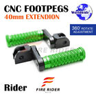 FRW CNC 6C 40mm Front Footpegs For MV Agusta 989R Brutale 08+ 08