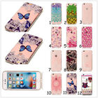 HD Clear Slim Butterfly Owl Flower Lace Soft TPU Back Cover Gel Skins For Phones