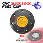 FRW BK GD CNC Quick Lock Fuel Cap For Kawasaki ZX 6R 95,  97-99 95 97 98 99