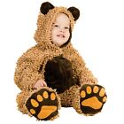 Baby Boys Brown Chenille Teddy Bear Jumpsuit Booties Halloween Costume 18M