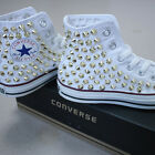 Genuine CONVERSE All-star with studs Sneakers Sheos White(Gold)
