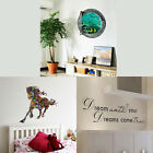 Removable PVC Art Quote Wall Decal Stickers Bedroom Mural DIY Home Room Decor