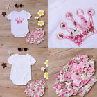 Infant Baby Girls Clothing Bodysuit and Printed Pants Crown Pattern Outfit Sets