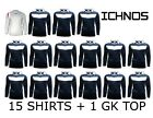 ICHNOS GARA NAVY ADULT TEAM KIT FOOTBALL SHIRTS (15 PLAYERS + 1 GK TOP)